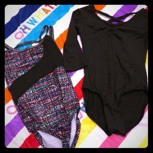 Other - 2 Girls dance/gymnastics suits bundle.